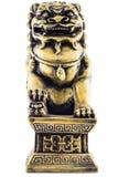 Leo Statue di marmo isolato nello stile antico Fotografia Stock Libera da Diritti