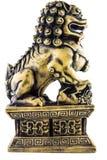 Leo Statue di marmo isolato nello stile antico Immagine Stock Libera da Diritti