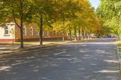 Leo Tolstoy alley under shadow of the chestnut trees Stock Photo