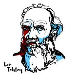 Leo Tolstoy Portrait vektor illustrationer