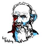 Leo Tolstoy Portrait ilustración del vector