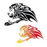 Leão tribal no salto Imagens de Stock Royalty Free