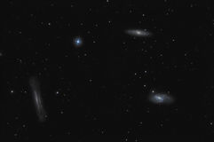 Leo Trio Galaxies Stock Image