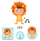 Leo vector collection. zodiac signs Stock Image