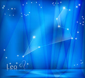 Leo Zodiac Background Lizenzfreie Stockfotos