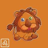 Leo Zodiac Horoscope Vector Illustration Images stock