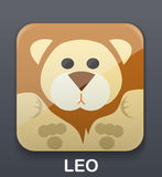 Leo zodiac icon Royalty Free Stock Images