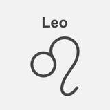 Leo Zodiac Sign Flache Astrologievektorillustration auf weißem BAC Lizenzfreie Stockfotografie