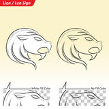 Leo Zodiac Star Sign Sketch Illustration Stock