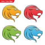 Leo Zodiac Star Signs Sketch coloré illustration de vecteur