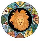 Leo Zodiac undertecknar Royaltyfria Bilder