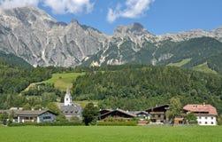 Leogang谷, Salzburgerland,奥地利 图库摄影