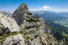 Leogang berg, Österrike Arkivfoto
