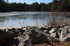Leominster湖 免版税图库摄影