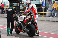 Leon Camier Aprilia RSV4 Factory Alitalia Royalty Free Stock Photos