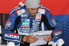 Leon Camier - Suzuki gsx-r 1000 - Halve maan Stock Fotografie