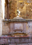Leon Carlos IV fountain beside Plaza Mayor Spain Royalty Free Stock Photo