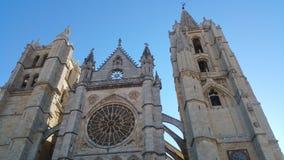 Leon Catedral royaltyfri fotografi