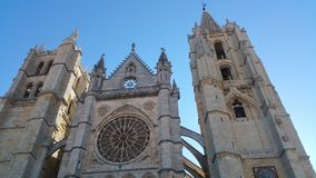 Leon Catedral. The Cathedral of Leon is a temple of catholic episcopal cult, see the diocese of Leon, Spain, dedicated under the invocation of  royalty free stock photography