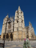 Leon Cathedral. In summer Royalty Free Stock Photography