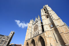 Leon cathedral Royalty Free Stock Photography