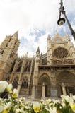 Leon Cathedral, camino de santiago road, Spain under blue sky Stock Photos