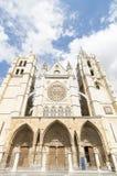 Leon Cathedral, camino de santiago road, Spain under blue sky Royalty Free Stock Image