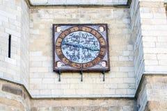 Leon cathedral clock Stock Photo