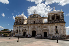 Leon cathedral with cloudy sky Stock Photography