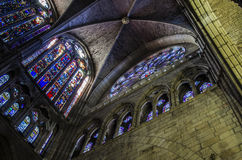 Leon cathedral. Gothic cathedral of Leon, interior Royalty Free Stock Photos