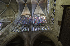 Leon cathedral. Gothic cathedral of Leon, interior Stock Photography