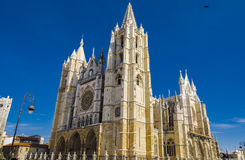 Leon cathedral. Gothic cathedral of Leon,  Spain Royalty Free Stock Photography