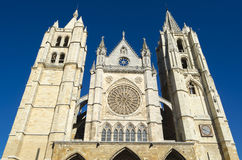 Leon cathedral. Gothic cathedral of Leon, Spain Royalty Free Stock Photo