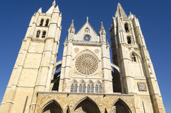 Leon cathedral. Gothic cathedral of Leon, Spain Stock Images