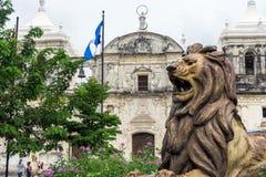 Leon Cathedral, Nicaragua Foto de archivo libre de regalías