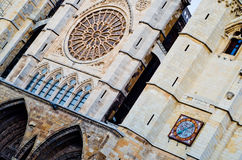 Leon cathedral Stock Image