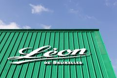 Leon de Bruxelles restauracja zdjęcia stock