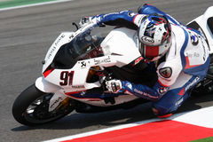 Leon Haslam BMW S1000 RR - BMW Motorrad Motorsport. Leon Haslam rider BMW in the world Superbike Championship SBK Misano Stock Photo