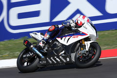 Leon Haslam BMW S1000 RR - BMW Motorrad Motorsport. Leon Haslam rider BMW in the world Superbike Championship SBK Royalty Free Stock Images