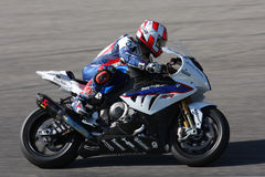 Leon Haslam BMW S1000 RR - BMW Motorrad Motorsport. Leon Haslam rider BMW in the world Superbike Championship SBK Royalty Free Stock Photography