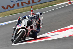 Leon Haslam BMW S1000 RR - BMW Motorrad Motorsport Stock Photo