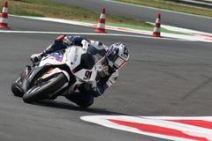 Leon Haslam BMW S1000 RR - BMW Motorrad Motorsport Fotografía de archivo libre de regalías