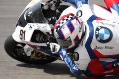 Leon Haslam BMW S1000 RR - BMW Motorrad Motorsport fotografia stock libera da diritti