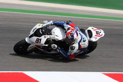Leon Haslam BMW S1000 RR - BMW Motorrad Motorsport Royalty Free Stock Photos
