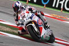 Leon Haslam #91 em Honda CBR1000RR com Superbike WSBK de Pata Honda World Superbike Team Fotos de Stock Royalty Free