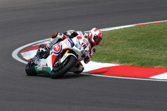 Leon Haslam #91 on Honda CBR1000RR with Pata Honda World Superbike Team Superbike WSBK Royalty Free Stock Photo