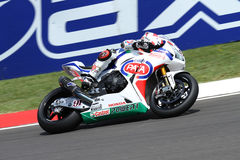 Leon Haslam #91 on Honda CBR1000RR with Pata Honda World Superbike Team Superbike WSBK royalty free stock images