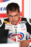 Leon Haslam #91 on Honda CBR1000RR with Pata Honda World Superbike Team Superbike WSBK royalty free stock photography