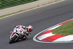 Leon Haslam -91 na Honda CBR1000RR z Pata Honda Superbike drużyny Światowym Superbike WSBK Obraz Stock