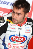 Leon Haslam -91 na Honda CBR1000RR z Pata Honda Superbike drużyny Światowym Superbike WSBK Obrazy Royalty Free